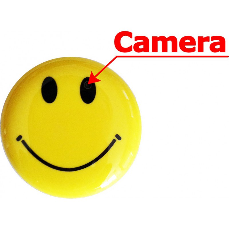 smiley camera broche camera espionnage. Black Bedroom Furniture Sets. Home Design Ideas