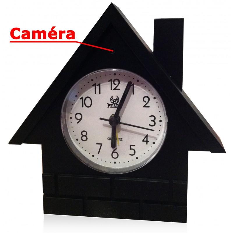 horloge camera sans fil avec r cepteur camera espionnage. Black Bedroom Furniture Sets. Home Design Ideas