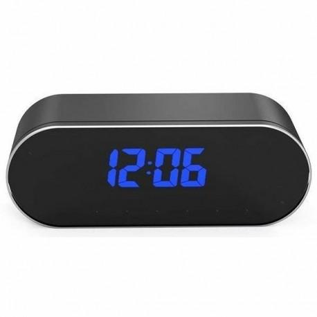 Réveil camera intégré Full HD 1080P Wifi vision nocturne et détecteur de mouvement