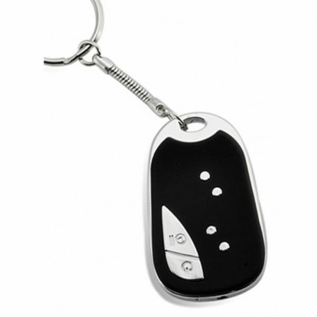 Porte-clés micro caméra cachée espion gris noir