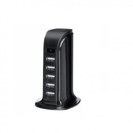 Chargeur multiplicateur de ports 5 USB camera 1080P détection de mouvement