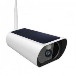 Camera de surveillance panneau solaire Wifi et IP Zoom X4 vision de nuit
