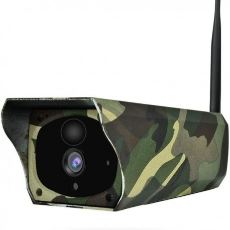 Camera de surveillance waterproof panneau solaire Wifi et IP camouflage