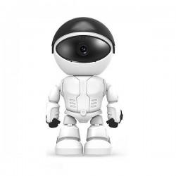 Robot avec camera de surveillance wifi à tête rotative sans fil 1080P