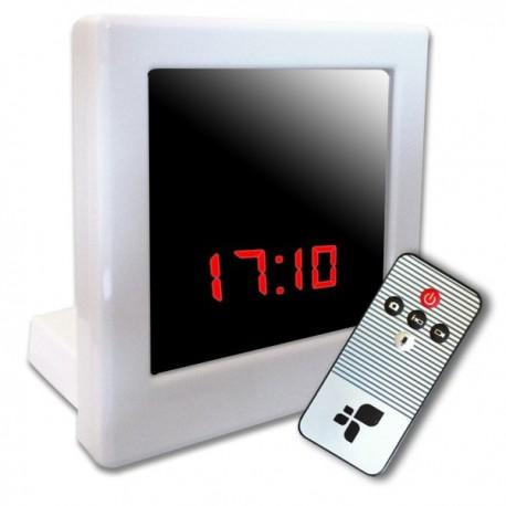 Réveil camera design carré blanc