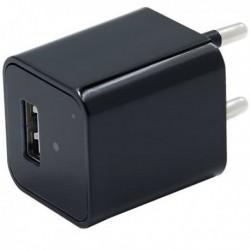 Chargeur USB Secteur camera espion HD 1080P détecteur de mouvement