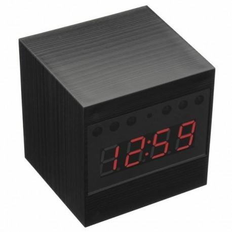 Réveil camera cachée HD 1080P télécommandé carré détection mouvement