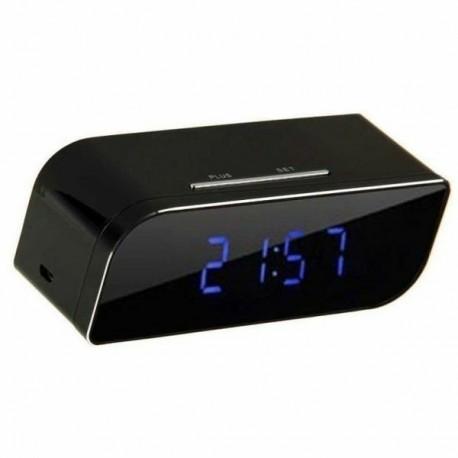 Réveil mini camera cachée HD 1080P Wifi vision de nuit et détecteur de mouvement