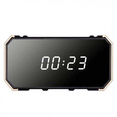 Réveil avec camera espion rectangle Full HD 4K Wifi vision nocturne Miroir