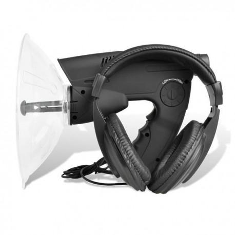 Amplificateur de son parabole pour ecoute à distance avec jumelle zoom x8