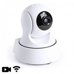 Caméra de sécurité IP à tête rotative vision nocturne Wifi